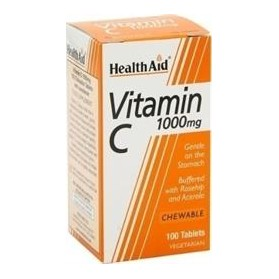 HEALTH AID VITAMIN C 1000MG 100TABS CHEWABLE