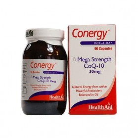 HEALTH AID CONERGY CoQ-10 30MG 90 CAPS ECONOMY