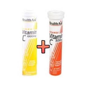 HEALTH AID VITAMIN C 1000MG LEMON + VITAMIN C 500MG
