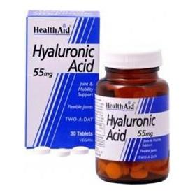 HEALTH AID HYALURONIC ACID 30TABS 55MG