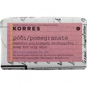 Korres Σαπούνι Ρόδι, Για Λιπαρές Επιδερμίδες, 125g