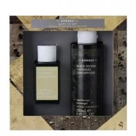 KORRES GIFT SET BLACK PEPPER CASHMERE LEMONWOOD EAU DE TOILETTE & SHOWERGEL