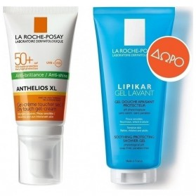 LA ROCHE POSAY ANTHELIOS XL ANTI-SHINE DRY TOUCH SPF50 GEL-CREAM 50ml & GEL LAVANT 100ml