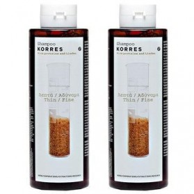 KORRES SHAMPOO FOR MINUTE SOMETHING HAIR WITH RICE PROTEINS & TILLE 1 + 1 GIFT