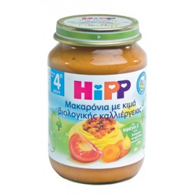 HIPP BABY MEAL PASTA with minced meat and tomato 190gr