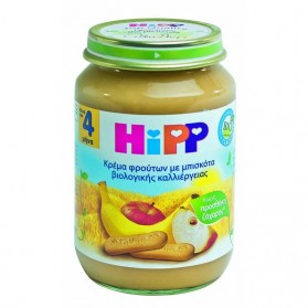 HIPP BABY APPLE BANANA BISCUIT 190gr
