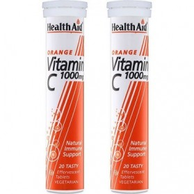 Health Aid Vitamin C 1000mg 2x 20 effervescent tablets Orange
