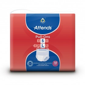 Attends Pull Ons 5 - Large (100-140cm) - 1300ml-1699ml - Pack of 18