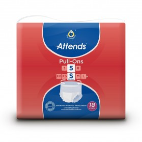 Attends Pull Ons 5 - Small (60-90cm) - 1300ml-1699ml - Pack of 18