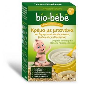 Bio-Bebe Κρέμα με Μπανάνα και Δημητριακά Ριζάλευρο Ολικής Άλεσης 200gr Banana