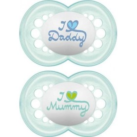 Mam i love my mummy/daddy x2 silicone 0-6