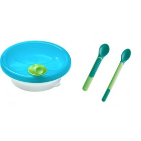 Mam Primamma Πιάτο Διατήρησης Θερμοκρασίας Βεντούζα Στήριξης / Heat Sensitive Spoons & Cover 6m+