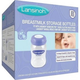 Lansinoh Μπουκάλια Αποθήκευσης Μητρικού Γάλακτος, 160ml, 4τμχ