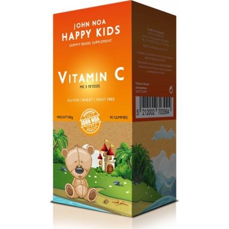 John Noa Happy Kids Vitamin C 90 μασώμενες ταμπλέτες